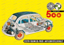 "Steyr Puch 500 Poster ""Schnitt"", 70x50cm"
