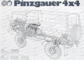 Steyr Puch Pinzgauer Poster, 70x50cm