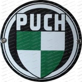 Puch Logo – Emailschild – 15 cm Durchmesser