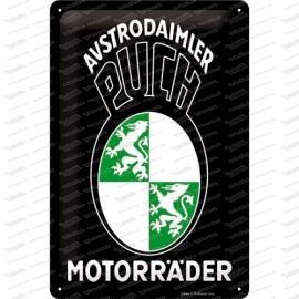 Motos Austro-Daimler PUCH - plaque métallique - 20x30cm
